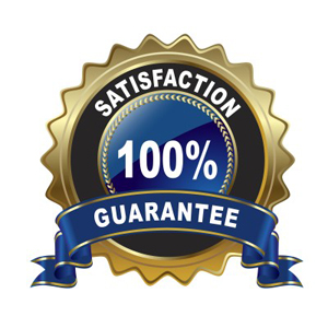 Picture of a 100% Satisfaction Guarantee.