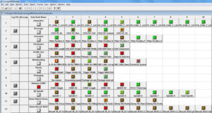 This is a screen shot of the Synergy SPC Software Manager Level viewing all the processes in real-time.